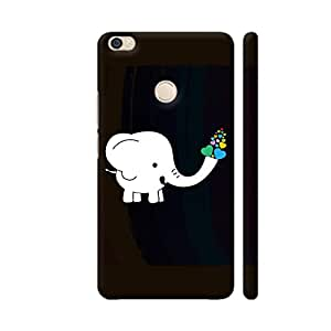 Colorpur White Elephant With Colorful Hearts Artwork On Xiaomi Mi Max Cover (Designer Mobile Back Case) | Artist: Designer Chennai