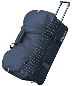 "28"" (110l) Trolley Bag Duffle Holdall Rolling Wheeley Luggage Black by Extreme"