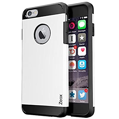 iPhone 6S Case, iPhone 6 Case Zeox [Hybrid Tough] Dual Layer Protective Armor Case for iPhone 6S/iPhone 6 (4.7-Inch)-iPhone 6S Cover with Shock Absorptive Inner Layer Hard Back Case from Zeox