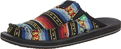 Sanuk Men's You Got My Back II Slip-On Loafer,Blue Multi Poncho,10 M US