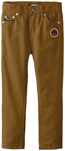 TRUKFIT Little Boys' Color Twill Pants, Military Olive, 4