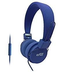 Digital Essentials Neon Headphones with Mic - Blue