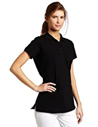 Dickies Women\'s Pique Polo Shirt, Black, Small