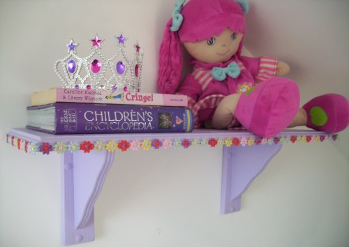 Large Purple Hippy Flower Girls Bedroom Shelf, Shelves, Storage, Toy storage, Childrens Furniture