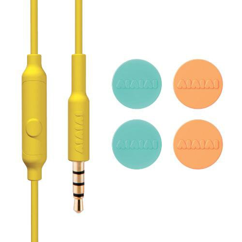AIAIAI / TRACKS HEADSET Blue/Yellowの写真02。おしゃれなヘッドホンをおすすめ-HEADMAN(ヘッドマン)-