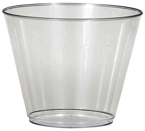 Creative Converting 8 Count Clear Plastic Tumbler, 9 oz