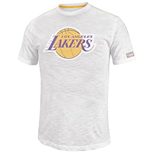 NBA Mens Los Angeles Lakers Post Up Short Sleeve Crew Neck Slub Tee By Majestic by Majestic