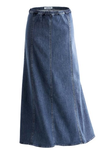 Jessica London Plus Size Denim Skirt (LIGHT STONEWASH DENI,20 W)