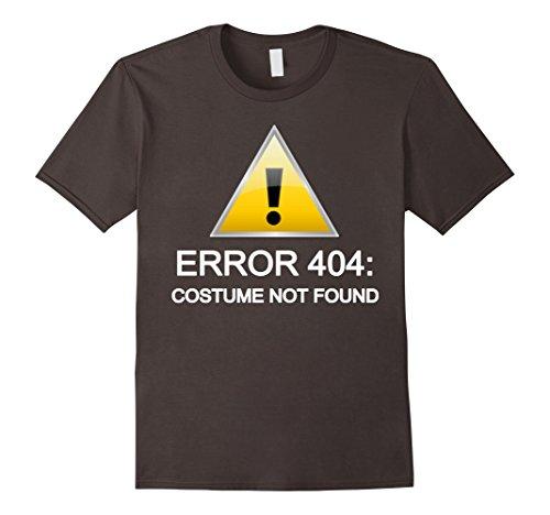 [Men's Error 404: Costume not found Halloween T-Shirt 2XL Asphalt] (Costume Not Found 404)
