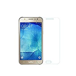 Samsung Galaxy J5 Glass Screen Protector Tempered Glass -Combo Pack of 2 , VACK Tempered Glass Ballistics Glass, 99% Touch-screen Accurate, Anti-Scratch, Anti-Fingerprint, Round Edge [0.3mm] Ultra-clear - Retail Packaging