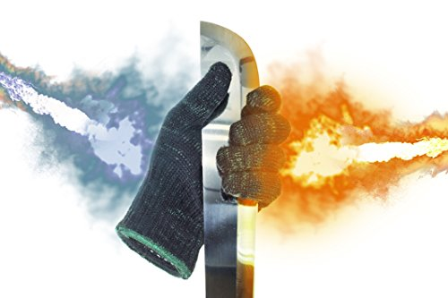 SILACH All in ONE INNOVATIVE FLAME (Up to 25 sec.) HEAT & Highest Level Protection CUT RESISTANT ANTI-VIBRATION GLOVES, M - XXXL, for COOKING, SOLDERING, HAIR STYLING, CAR REPAIR, HOUSEWORK and ect (Puncture Proof Work Gloves compare prices)