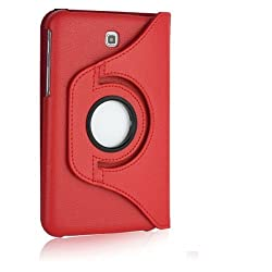Gioiabazar 360Â¡Rotating PU Leather Stand Case For Samsung Galaxy Tab3 7.0 P3200 Red