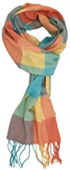 LibbySue-Plush Plaid Cashmere Feel Winter Scarf