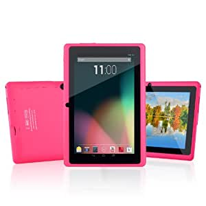 Dragon Touch® 7'' inch Pink Dual Core Y88 Google Android 4.3 Tablet PC, Dual Camera, HD 1024x600, Google Play Pre-load, HDMI, 3D Game Supported (enhanced version of A13) [By TabletExpress]