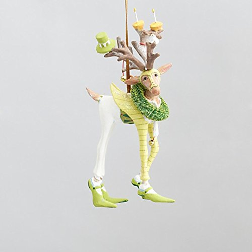 5.5″ Patience Brewster Krinkles Mini Dash Away Prancer Decorative Reindeer Christmas Ornament