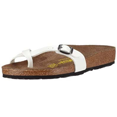 Birkenstock thongs Piazza from Birko-Flor in Pearl with a narrow insole size 40.0 N EU