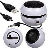 Fone-Case Motorola DEFY+ Mini Capsule Rechargable Loud Speaker 3.5mm Jack To Jack Input (White)