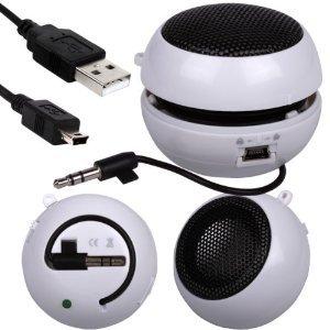 Fone-Case Alcatel Ot-978 Mini Capsule Rechargable Loud Speaker 3.5Mm Jack To Jack Input (White)