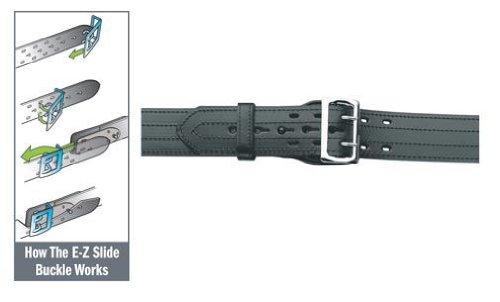 Purchase Gould & Goodrich B49-44Fl4R E-Z Slide Duty Belt, 4 Row Stitched fits 44-Inch Waist (112...