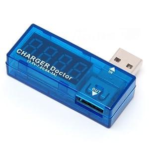 USB 簡易電圧・電流チェッカー (3.4V~7.0V,0A~3A) RT-USBVA1