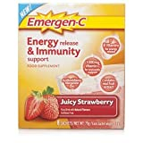 Emergen-C Energy Release & Immunity Support Juicy Strawberry 8 Sachets Pack