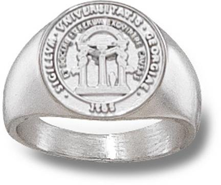Georgia Bulldogs Sterling Silver Seal 1/2'' Ladies Ring Size 6 1/2