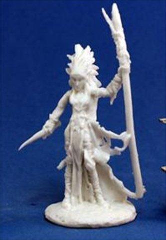 Grim Reaper miniature 77,121 Bones - Liela, Dark Elf Wizard