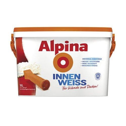 alpina 10 l innenfarbe innenweiss farbe wandfarbe wei matt spar baumarkt. Black Bedroom Furniture Sets. Home Design Ideas