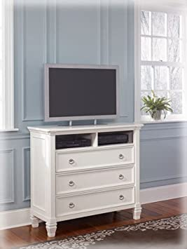 Cottage Style White Prentice Bedroom Media Chest