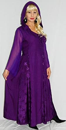 Lotustraders Dress Hood Insert Jaquard Chiffon OS L-2X Purple F446A