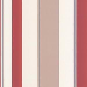 Erismann isabelle carta da parati a strisce rosso talpa for Carta da parati amazon