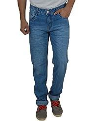 Studio Nexx Men's Light Blue Slim Fit Jeans