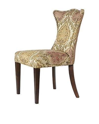 Jennifer Taylor Kedelston Chair, Wheat/Moss/Rose
