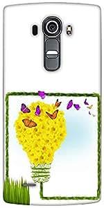 Snoogg Floral Background Designer Protective Back Case Cover For LG G4