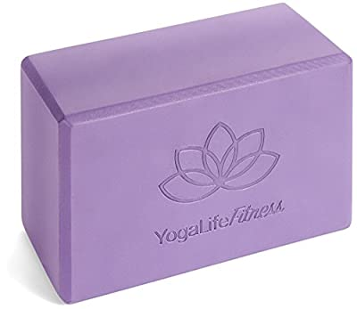 "Yoga Block 9""x6""x4"" Made With The Longest Lasting, High Density, Premium Quality 100% Environmentally Safe Recycled EVA Foam - Lifetime Warranty (1 Color Block) Perfect For Yoga, Pilates, And P90X"