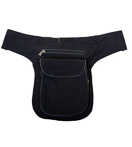 Goa spalla/marsupio cintura ventre cintura Hippie Psy Festival, Grigio (grigio), 29 x 19 x 4 cm