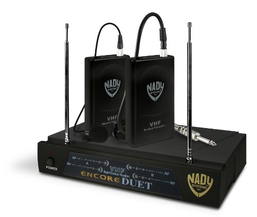 Nady Encore Duet Lt/O/A/F Two-Channel (A/F) Wireless Lavaliere Microphone System With Two Microphones