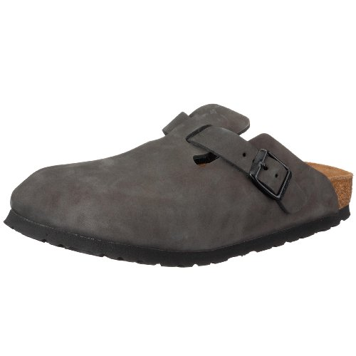 Birkenstock Boston Nubuck Leather, Style-No. 60331, Unisex Clogs, Basalt, EU 43, normal width