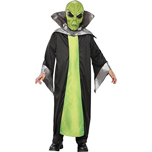 Kid's Green Alien Halloween Costume (Small 5-7)