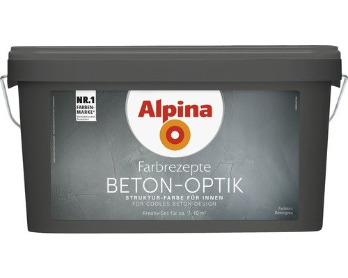 alpina farbrezepte beton art komplett set 3 l basis 1 l. Black Bedroom Furniture Sets. Home Design Ideas