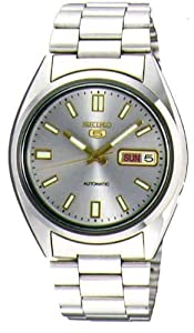 Seiko Men's SNXS75 Seiko 5 Automatic Grey Dial Stainless-Steel Bracelet Watch by Seiko