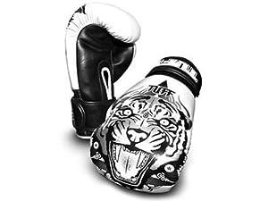 tuff muay thai tigre blanc gants de boxe 16 oz tuf gv. Black Bedroom Furniture Sets. Home Design Ideas