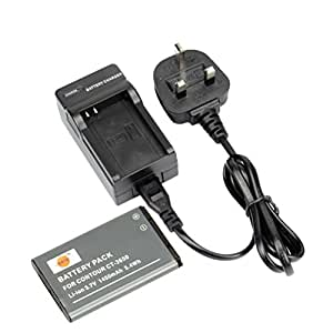 DSTE? CT-3650 Rechargeable Li-ion Battery + Charger DC128U for Contour GPS HD 1080P ContourHD Camcorder