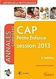 Formation CAP Petite enfance, session 2013, Itinéraires pro Annales corrigées