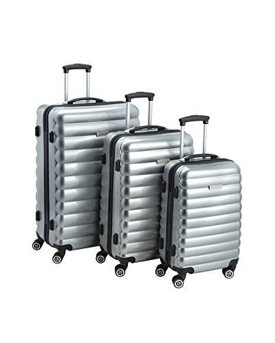 Luggagezone Trolley rígido Upright Plateado 77 cm