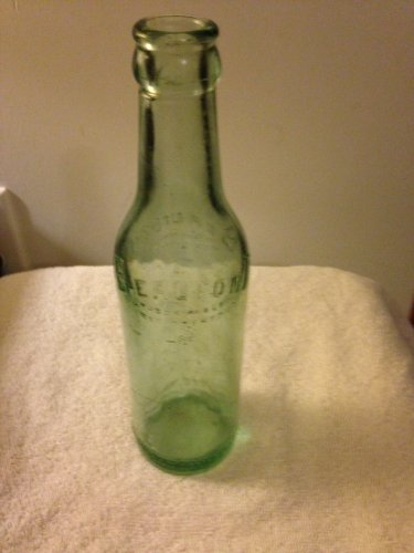 Early 1900's Embossed Beaufont light green beer bottle (Grapette Bottle compare prices)