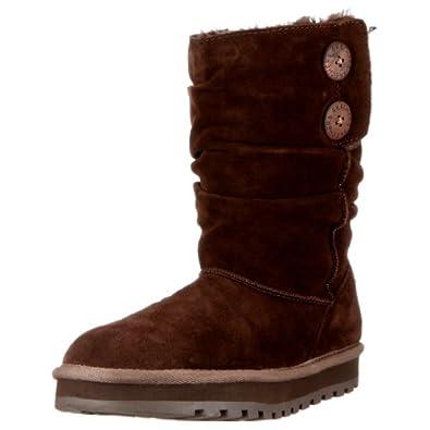 Skechers Women's Keepsakes-Freezing Temps Faux Fur Boot,Chocolate,5 M US