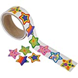 Funky Star Roll Stickers (1 roll)
