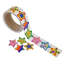 Fun Express Funky Star Sticker Roll - 100 Stickers