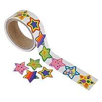 Fun Express Funky Star Sticker Roll - 100 Stickers